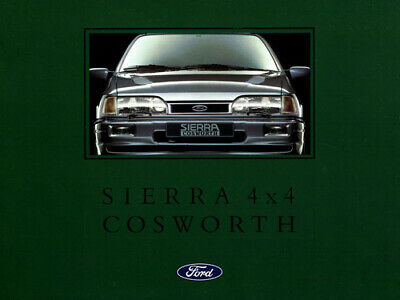 £5.95 • Buy FORD SIERRA RS COSWORTH 4X4 SAPPHIRE RETRO POSTER PRINT CLASSIC 90's ADVERT A3!