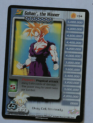 AU154.84 • Buy Dragon Ball Z DBZ CCG TCG 134 Gohan The Winner LV5 2001