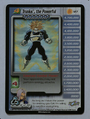 AU77.42 • Buy Dragon Ball Z DBZ CCG TCG 127 Trunks The Powerful RARE CARD LV4 2001