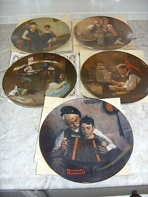 $ CDN37.65 • Buy  Norman Rockwell Heritage Collector Plates Knowles With COA'S Lot Of 5 No Boxes