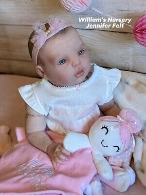 $ CDN405.32 • Buy WILLIAMS NURSERY Reborn Baby GIRL Doll 20  Gracie By Donna RuBert Painted Hair