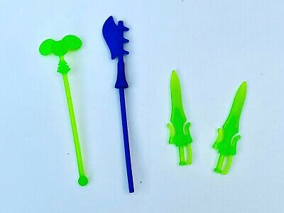 $23 • Buy Masters Of The Universe Origins Skeletor Scare Glow Weapons Lot 2