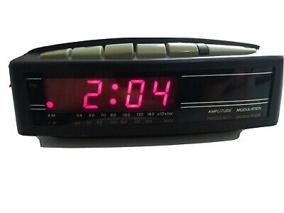 AU12 • Buy Vintage AM/FM Radio Alarm Clock Fully Operational.