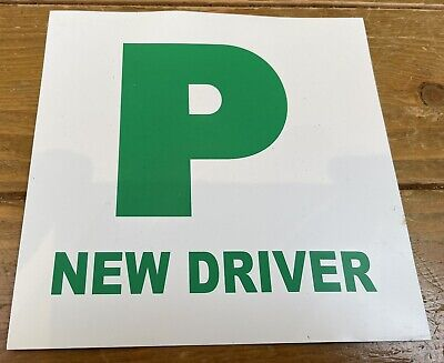 New Driver P Plate X 1, Magnetic • 0.99£