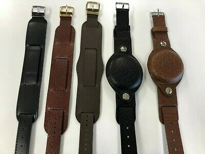 $20.83 • Buy Military Style Leather Watch Strap / Band  Thread Through, Two Piece