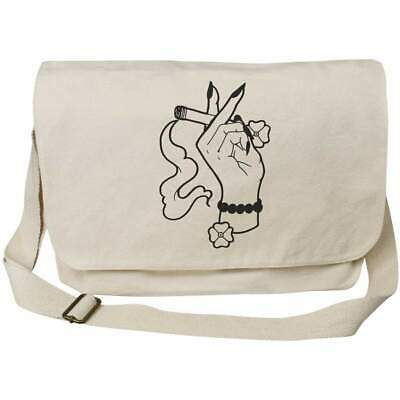 $ CDN25.91 • Buy 'Hand With Cigarette' Cotton Canvas Messenger Bags (MS006319)