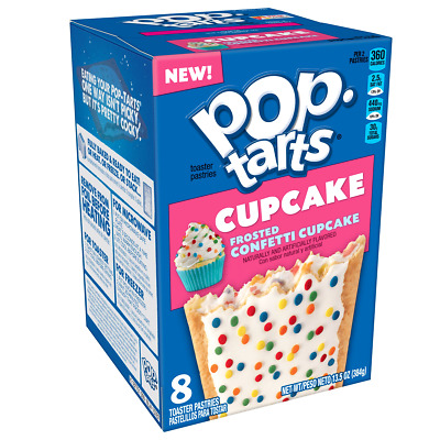 £18.18 • Buy Kelloggs Pop Tarts Frosted Confetti Cupcake - Box Of 8 - Us Import - Pack Of 3