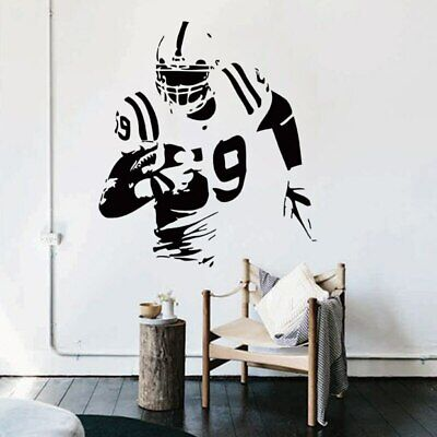 £8.52 • Buy Art Vinyl Rugby Player Wall Art Sticker Removable Football Decals For Club Home