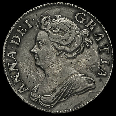 £240 • Buy 1708 Queen Anne Early Milled Silver Shilling, Third Bust, Plain Angles