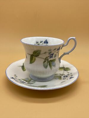 £11.89 • Buy Beautiful Vintage Rosina China Co. Queens Blue Flower Pattern Cup & Saucer