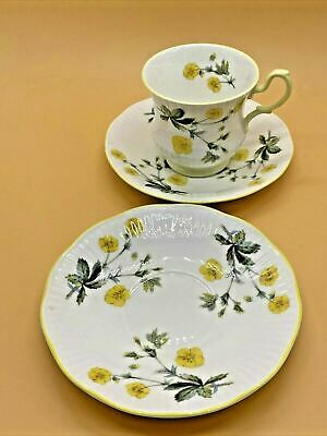 £14.44 • Buy Beautiful Vintage Rosina China Co. Queens Buttercup Patterned Cup & 2 Saucers