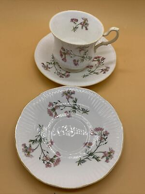 £14.44 • Buy Beautiful Vintage Rosina China Co. Queens Pink Flower Pattern Cup & 2 Saucers
