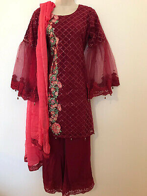 £29.60 • Buy Pakistani Indian Stitched Designer Party Wear Ethnic Dress Salwar Suit Outfit