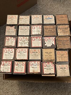 $ CDN6.27 • Buy Piano Roll Lot Vintage QRS Rare Titles (25 Rolls) Good Playable Condition