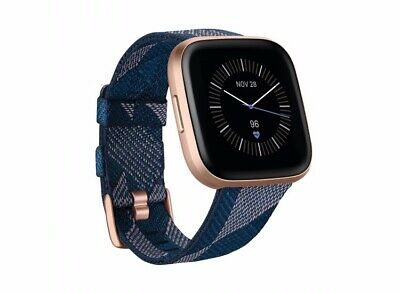 $ CDN225.58 • Buy NEW Fitbit Versa 2 Special Edition Smartwatch Navy Woven & Rose Gold
