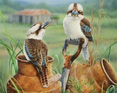 AU17.95 • Buy 5D Diamond Painting Kit Full Round Kookaburra Home Decor Art DIY