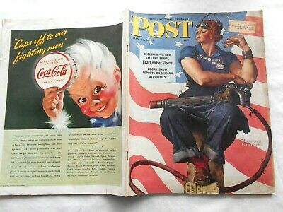 $ CDN369.69 • Buy SATURDAY EVENING POST~MAY 29,1943~ROSIE The RIVETER By NORMAN ROCKWELL