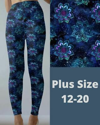 £15.62 • Buy Mandala Cosmic Galaxy Design Women's Leggings TC Plus Size 12-20