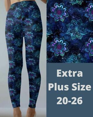 £15.62 • Buy Mandala Cosmic Galaxy Design Women's Leggings TC2 Extra Plus Size 20-26