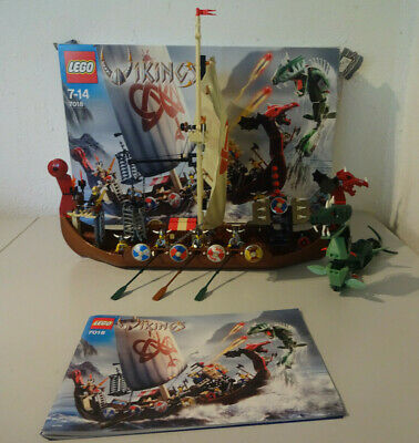£183.54 • Buy (Go) LEGO 7018 Viking Ship With Original Packaging & Ba 100% Complete Used