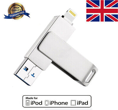 £19.98 • Buy 256GB Portable USB 3.0 I Flash Drive Pen Memory Stick For IPhone IPad Android UK
