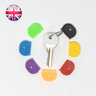 £1.89 • Buy Rubber Key Caps Pack Of 8 Covers Keyring Id Marker Tags Assorted Colours
