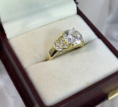 "AU70 • Buy 14 Kt Gold ""Diamond""Ring,. Size N,NEW."