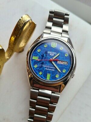$ CDN79.45 • Buy Vintage Blue 1983 SEIKO 5 Men's LIMITED EDITION Automatic Watch 7009-3121 80s