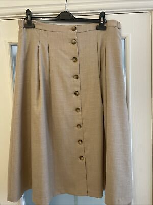 Cotswold Collection 18 Skirt Lined Beige New • 10£