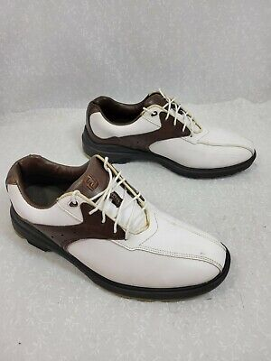 $39.99 • Buy FootJoy Mens Greenjoys 45351 Bicycle Toe Lace Up White Brown Golf Shoes Size 8.5