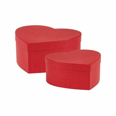 £8.99 • Buy Hat Boxes Ruby Heart Shaped Floristry Lined Hat Boxes OASIS® Set Of 2