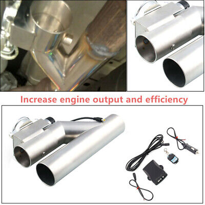 $111.13 • Buy 3 Inch Durable Exhaust Control E-Cut Out Valve Electric Y Pipe With Remote Kit