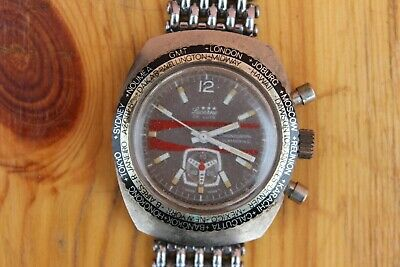 $ CDN125.88 • Buy Vintage Lucerne Chronograph Submarino GMT World Time For Repair Or Parts
