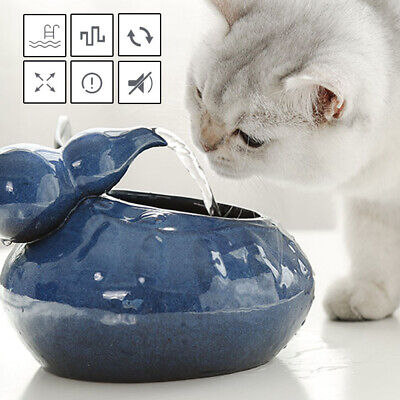 £12.90 • Buy Cats Dogs Ceramic Automatic Drinking Fountain Electric Water Dispensers Blue