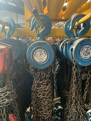 £85 • Buy CHAIN BLOCK AND TACKLE MANUAL HOIST 2000KG - *Ex-Hire*