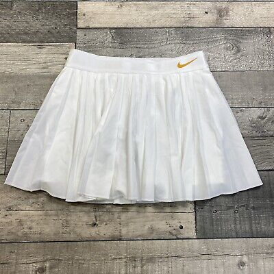 £99.99 • Buy Nike Court Victory 2in1 Womens Tennis Skirt Skort White Gold Medium Aq7234-100