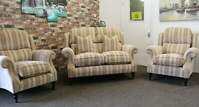 £1999 • Buy Parker Knoll Henley, Oakham 2 Seater Sofa & 2 Armchairs In Rose Stripe Fabric