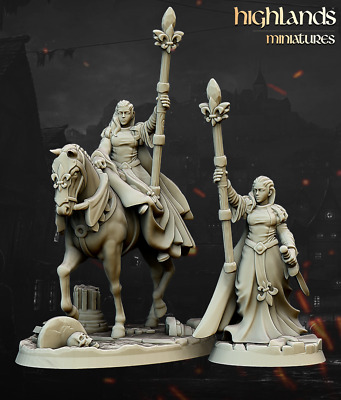 £8 • Buy Damsel Of The Lady, Highlands Miniatures, Bretonnian Proxy, Aos, 9th Age