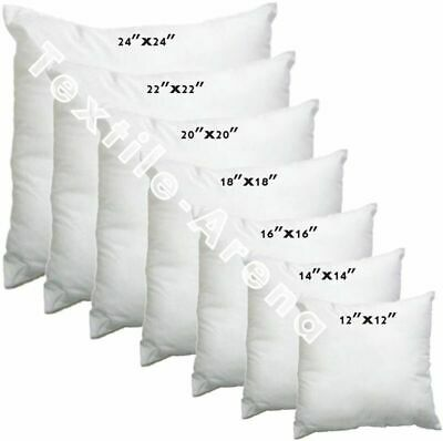 £2.45 • Buy New Hollowfibre Cushion Pads Inserts Inners Fillers 14  16  18  20  All Sizes