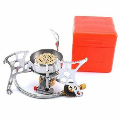 AU64.47 • Buy Outdoor Gas Burner Stove Camping Wind Proof Folding Portable Propane Tourist