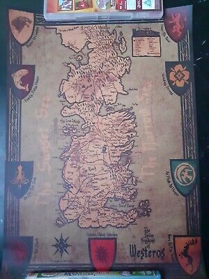 £9.50 • Buy Game Of Thrones Map Poster