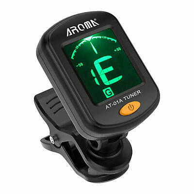 $ CDN11.22 • Buy AROMA AT-01A Digital Chromatic Clip On Tuner Acoustic Electric Guitar Bass U2M8