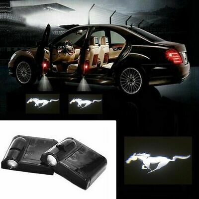 $15.99 • Buy For Mustang Courtesy Door LED Logo Projector Light 2Pc Welcome Light Shelby Ford