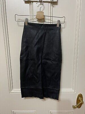 AU200 • Buy Scanlan Theodore Leather Pencil Skirt (size 6)