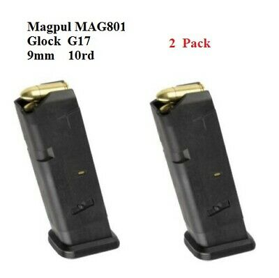 $32.95 • Buy Magpul 2 PACK MAG801 PMAG GL9 10 Round Magazine For The GLOCK G17 - NEW