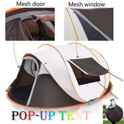 AU84.30 • Buy Instant Up Camping Tent 4-6 Person Pop Up Tents Family Hiking Dome Waterproof