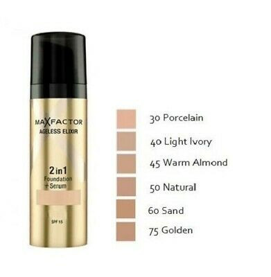 £9.99 • Buy Max Factor Ageless Elixir Miracle 2 In 1 Foundation + Serum - CHOOSE YOUR SHADE