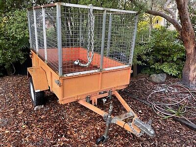 AU380 • Buy 6' 6  X 4' Box Trailer With Cage - Used