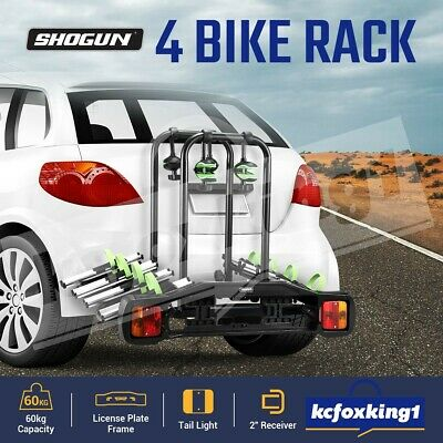 AU299.90 • Buy Bike Rack 4 Bicycle Carrier Car Rear Holder Lockable Towbar Hitch 2  Receiver