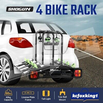 AU269.90 • Buy Steel 4 Bike Bicycle Carrier Rack Tow Ball Mount Lockable Car Rear Holder Stand